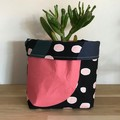 Small fabric planter | Storage basket | SHAPES AND SPOTS