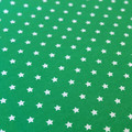 Green cotton fabric with white stars - Christmas Cotton Fabric