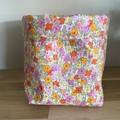 Small fabric planter | Storage basket | Pot cover | VINTAGE FLORALS