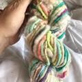 Bulky Handspun yarn, merino English Leicester, kid mohair, Aussie wool