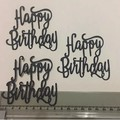 6 Happy Birthday die cuts