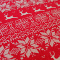 Red and White Christmas fabric - Christmas Cotton Fabric