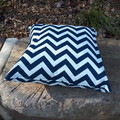 CHEVRON NAVY AND WHITE  OUTDOOR  CUSHION