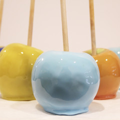 Toffee apples in colours