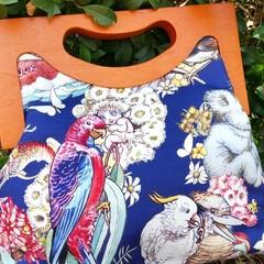 Navy Australian Tales Handbag