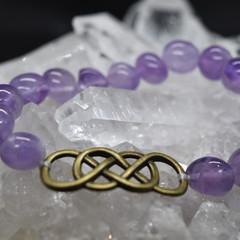 Double Infinity Amethyst Bracelet