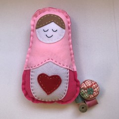 RUSSIAN DOLL SEWING KIT - LARGE LIGHT PINK