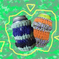 Funky Crochet Stubby Cooler