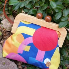 Colour block Handbag with crossbody strap