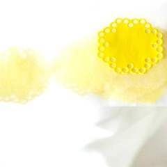 Yellow Envelope Seals | Paper Doily Stickers | Wedding invitations