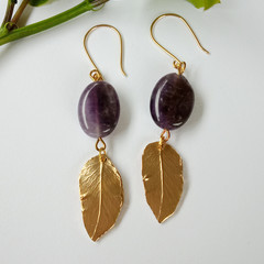 Maiden Amethyst Drop Earrings