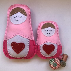 RUSSIAN DOLL DUO SEWING KIT - LIGHT PINK