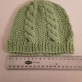 Lime Green Hand Knitted Child's Winter Beanie Hat