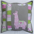Cushion cover - Llama with hearts