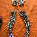 Fabric Cords Necklace & Earring Set