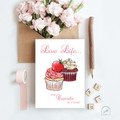 Cupcakes Ink and Watercolour Inspirational Artist Greeting Card