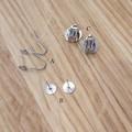 Handmade Earrings - Blue Banded Bee Earrings