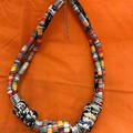 Fabric & Rings Twist Necklace