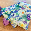 Clutch purse, cosmetic purse, zip purse, jewellery purse, padded zip purse,