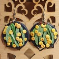 Handmade Earrings - Night Wattle and Eucalyptus Earrings