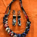 Fabric Knots Necklace & Earring set