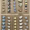 Hand made ceramic buttons