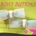 Chiffon overlay bow clip set.