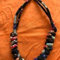Dark Fabric Knots Necklace