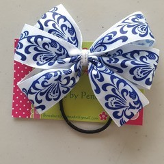 Cobalt Blue Detailed Pinwheel Bow.