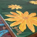 Golden Daisies Acrylic Painting