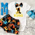 3 pc set-Personalised Lion King Inspired Birthday outfit