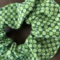 Green mosaic  Scrunchies