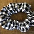 Black and white Gingham Scrunchies