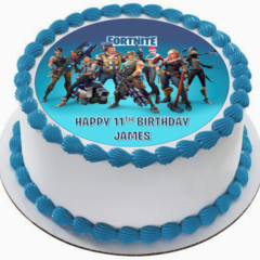 Fortnite Edible Icing  Personalized Circle Cake Topper #944