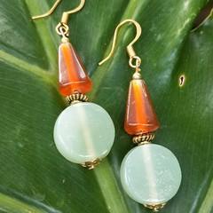 Retro citrus glass earrings.