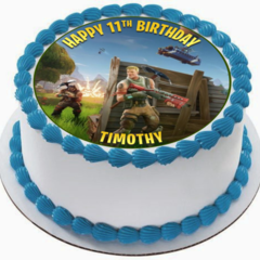Fortnite Battle Royale Edible Icing  Personalized Circle Cake Topper #222