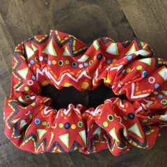 Red Tribal Scrunchies