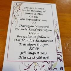 PURPLE FLOURISH WEDDING INVITATION SAMPLES