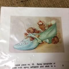 Paper Tole Print Kit - Mice in a Shoe