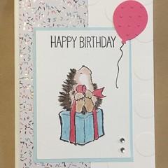 Birthday Card - Hedgehog