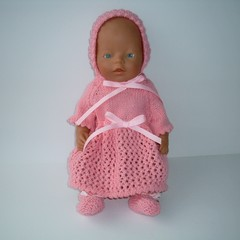 Dolls clothes knitted set for Baby Born Doll or similar sized dolls