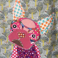 """""""Fran"""" the Frenchie  Woodlen Creatures Tote"""