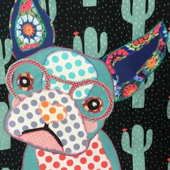 """""""Fran"""" the Frenchie  Cactus Tote"""