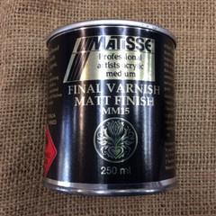 Matisse Final Varnish Matt Finish (Mineral Turps Based)