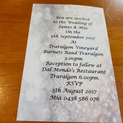 SILVER AND GOLD WEDDING INVITATION SAMPLE