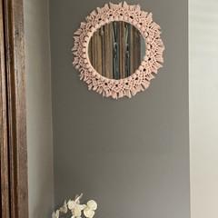 Round Macrame Mirror
