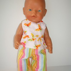 These dolls clothes Pants and Top set fit Baby Born Doll or similar dolls