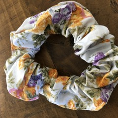 cottage garden floral  Scrunchies