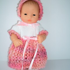 Dolls clothes knitted outfit to fit Miniland doll 32cm