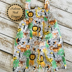 "Boys Overalls Made to Order ""Wild Safari """
